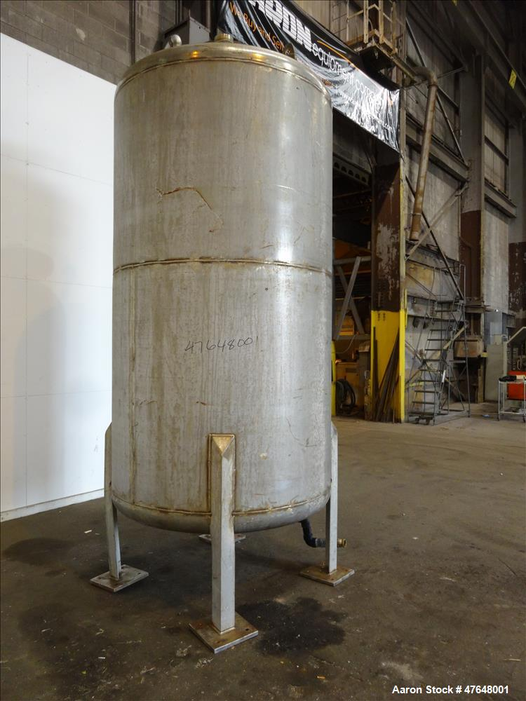 Used- Central Fabrications Inc. Tank, Approximate 1,500 Gallon, 316 Stainless St