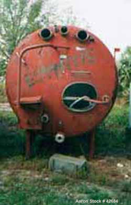 """Used- Cherry Burrell Tank, 1500 Gallon, Stainless Steel, Horizontal. 72"""" Diameter x 98"""" straight side, dished ends. Insulate..."""