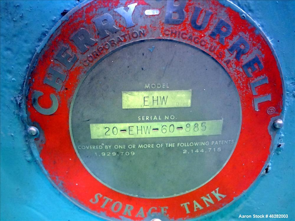 Used- Tank, Cherry Burrell Tank, Model EHW, 304 Stainless Steel