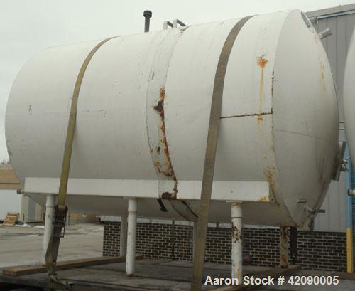 Used- Cherry Burrell Storage Tank, 3000 gallon, 304 stainless steel, horizontal. 84'' diameter x 108'' straight side, dished...