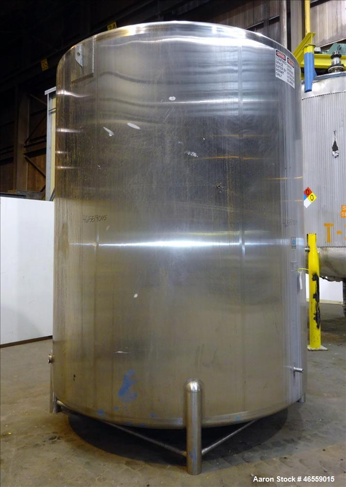 Used- Cherry Burrell Tank, 4,500 Gallon, 316 Stainless Steel, Vertical.