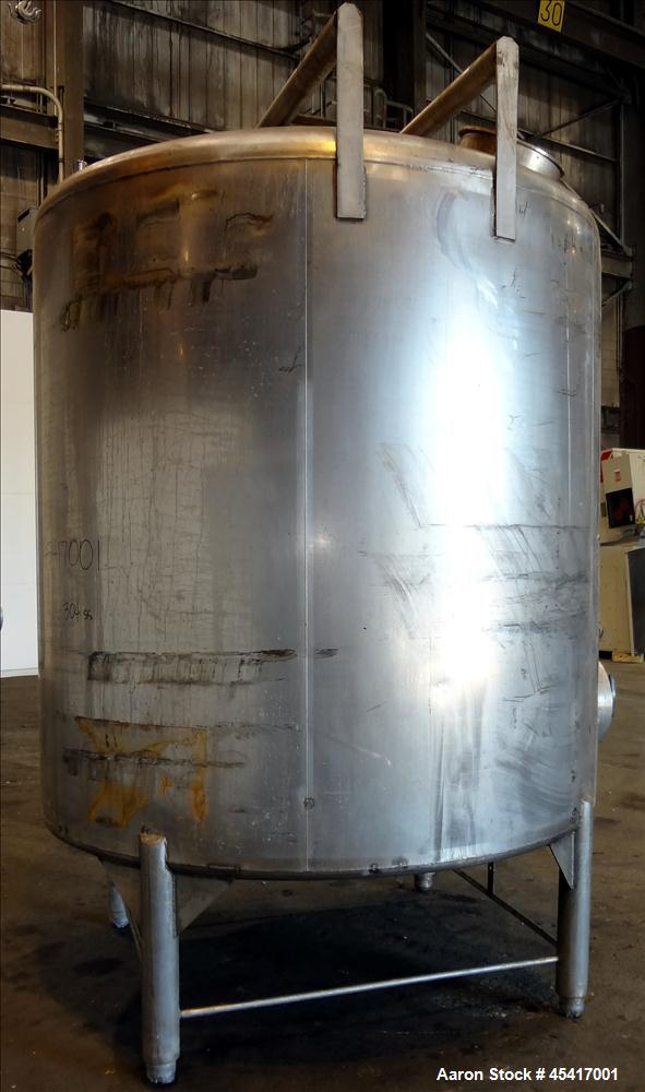 Used- 2000 Gallon Stainless Steel Crepaco Tank