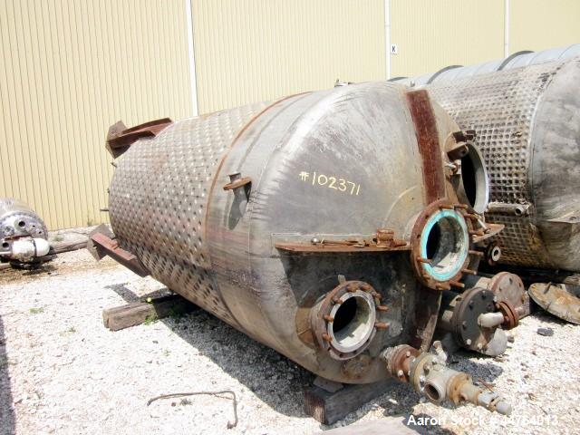 Used- 2000 Gallon Stainless Steel D&W Welding & Fab Pressure Tank