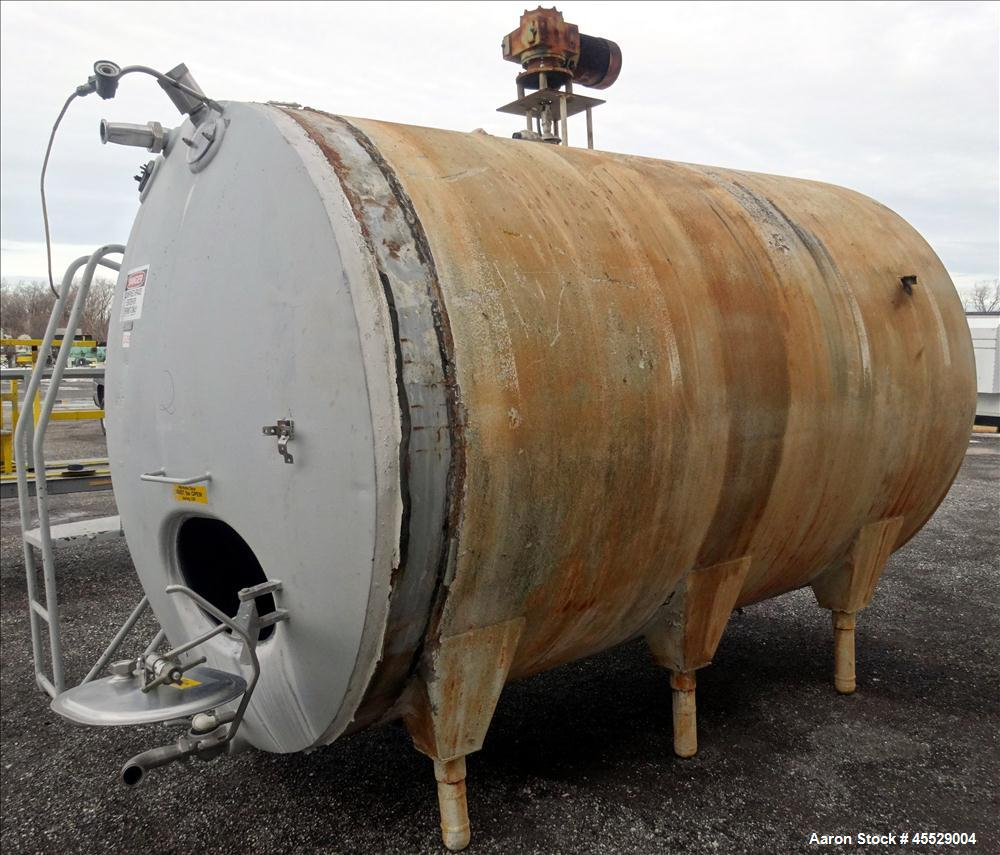 Used- 3,000 Gallon Stainless Steel Dairy Craft Tank