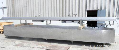 Used- Stainless Steel Damrow Round End Open Finishing Vat, Model DL42SS