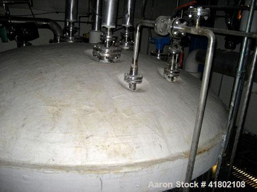"Used- DCI Tank, 4000 Gallon, stainless steel, vertical. Approximately 96"" diameter x 120"" straight side, dished top and bott..."