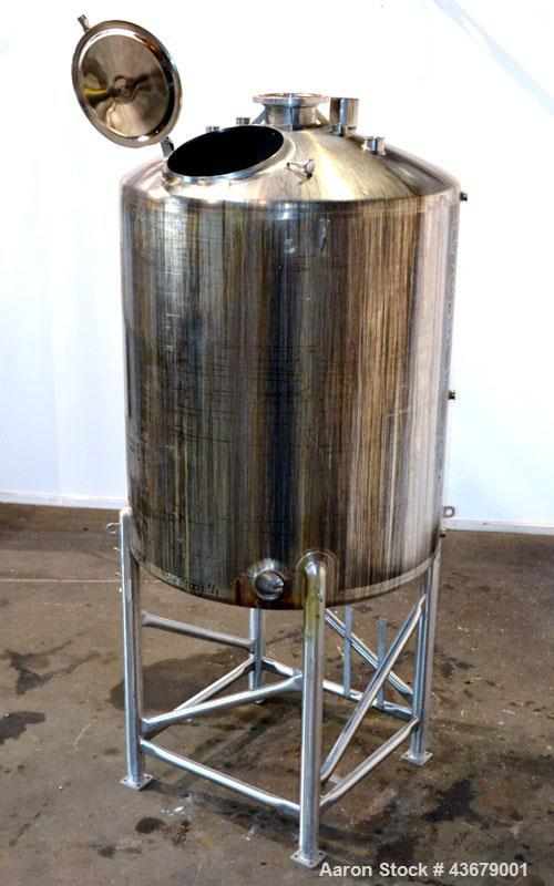 "Used- Feldmeier Tank, 1,500 Gallon, 316 Stainless Steel, Vertical. 72"" Diameter x 78-1/2"" straight side, dished top and bott..."