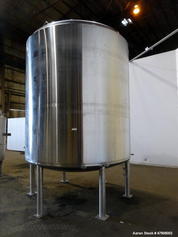 Used- Feldmeier Tank, Approximate 3,300 gallon, 316L Stainless Steel, Vertical.