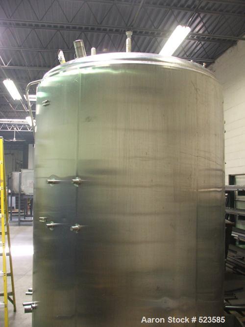 "USED: Feldmeier jacketed processor, 2,000 gallon. 87"" diameter x 104""straight side. OAH 150"". 304 stainless steel, vertical,..."