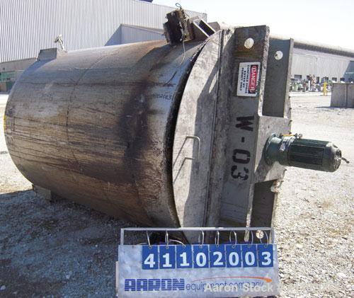 """Used- Imperial Steel Tank Company Tank, 1800 gallon, 304 stainless steel, vertical. 72"""" diameter x 96"""" straight side. Flat b..."""