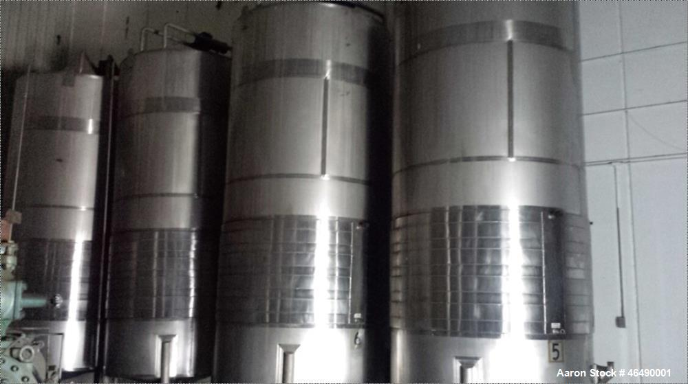 Used- J.V. Northwest Tank, 4500 Gallon, 304 Stainless Steel, Vertical.