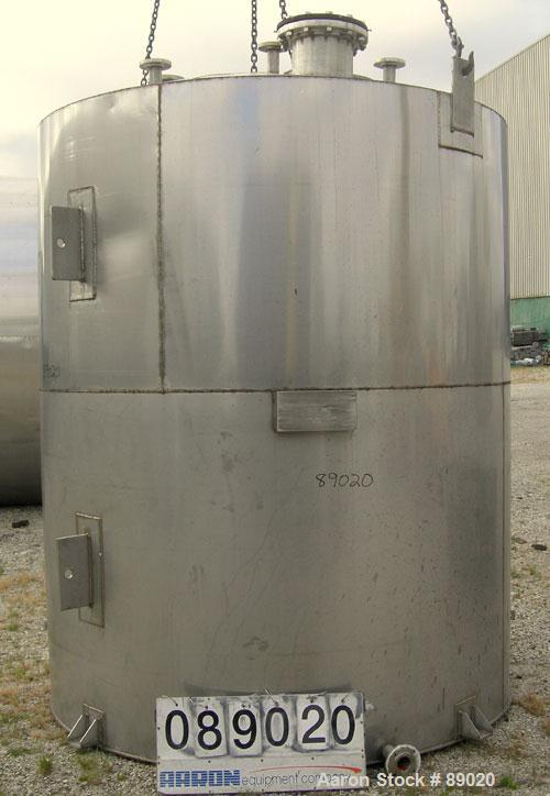 """Used- Keller Sales And Engineering Tank, 2,858 Gallon, 304 Stainless Steel, Vertical. Approximately 90"""" diameter x 108"""" stra..."""