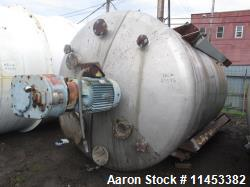 4500 Gallon Agitated Tank. 316 stainless steel construction. Approximately 8' diameter x 11' straig...
