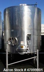 """Approx. 3000 Gallon Stainless Steel Jacketed Wine Tank. Approx. 96"""" diameter x 96"""" straight side. O..."""