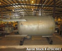 "d- Tank, 2,150 Gallon, 304L stainless steel. 6 diameter x 7 11"" high, vertical, dished heads. Intern..."