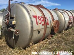 """Falco Tank, Approximately 2,500 Gallon, 304 Stainless Steel, Vertical. Approximate 89"""" diameter x 1..."""