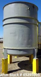 Used- Tank, Approximate 2,300 Gallon, Stainless Steel, Vertical.