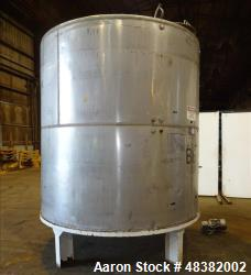 Used- Hicks Inc. Tank, 3,000 Gallon, 304 Stainless Steel, Vertical.