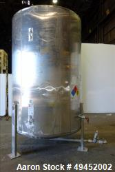 Used- Mid State Tank Company Tank, Approximate 2,400 Gallon, 304 Stainless Steel