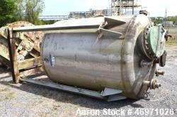 "TPI Industrial Tank, Approximate 1500 Gallon, Stainless Steel, Vertical. Approximate 72"" Diameter x..."