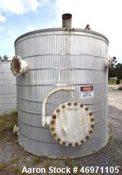 Troy Boiler Works API Standard 650 Tank, 3000 Gallon, 316 Stainless Steel, Vertical. Approximate 96...