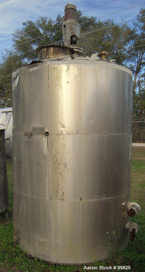 "USED: Metal Equipment Company Tank, approximately 1,700 Gallons, Stainless Steel, Vertical, Insulated.  Approximate 78"" diam..."