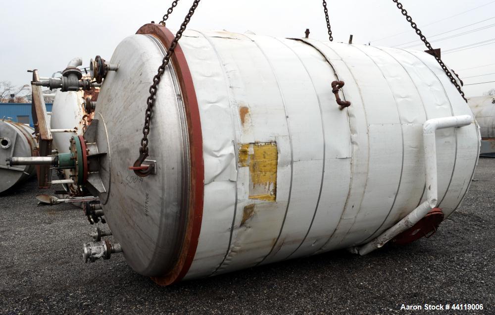 "Used- Midwest Fabricators Pressure Tank / Reactor, 4500 Gallon, 316 Stainless Steel, Vertical. 96"" Diameter x 138"" straight ..."