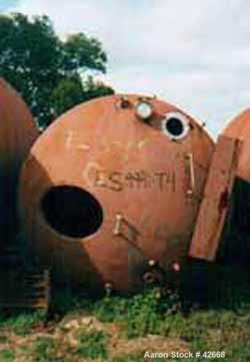 """Used- Mojonnier Tank, 1500 Gallon, Stainless Steel, Horizontal. Approximately 72"""" diameter x 101"""" straight side, dished ends..."""