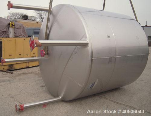 """Unused- Mueller Tank, 3000 Gallon, Model """"F"""", 304L Stainless steel, Vertical. 96"""" diameter x 86"""" straight side, dished top a..."""