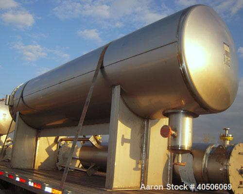 "Unused- Mueller Coalescer Pressure Tank, 1600 Gallon, Model ""H"", 304L stainless steel, horizontal. 48"" diameter x 204"" strai..."