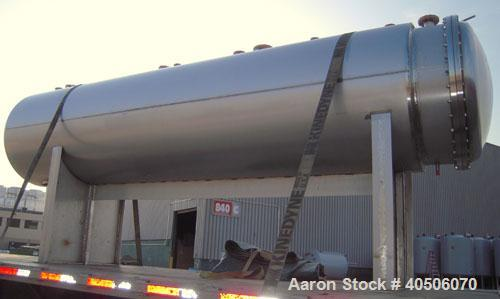 "Unused- Mueller Coalescer Pressure Tank, 1600 Gallon, Model ""H"", 304L atainless steel, horizontal. 48"" diameter x 204"" strai..."