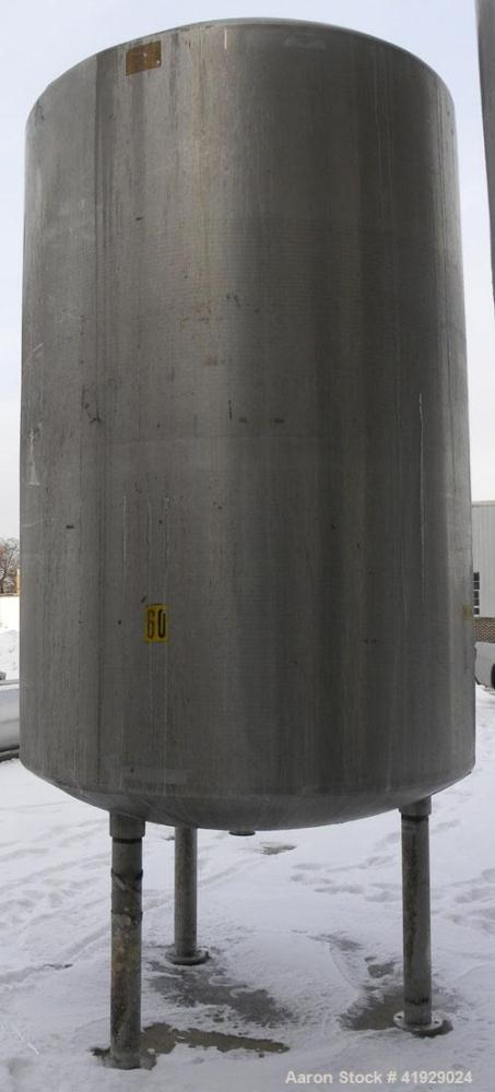 "Used- Mueller Tank, 2000 Gallon, 316 Stainless Steel, Vertical. 76"" diameter x 106"" straight side, dished top and bottom. (1..."