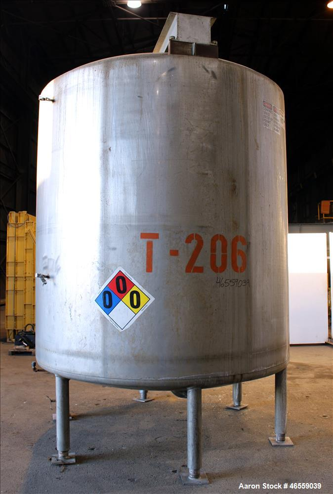 "Used- Mueller Tank, Approximate 3,500 Gallon, 304 Stainless Steel, Vertical. 304 Stainless steel jacket. Approximate 96"" dia..."