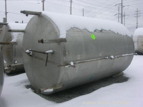 "USED: Mueller tank, 3000 gallon, 304 stainless steel, vertical. 7' diameter x 10'6"" straight side. Dish top and bottom. Ligh..."