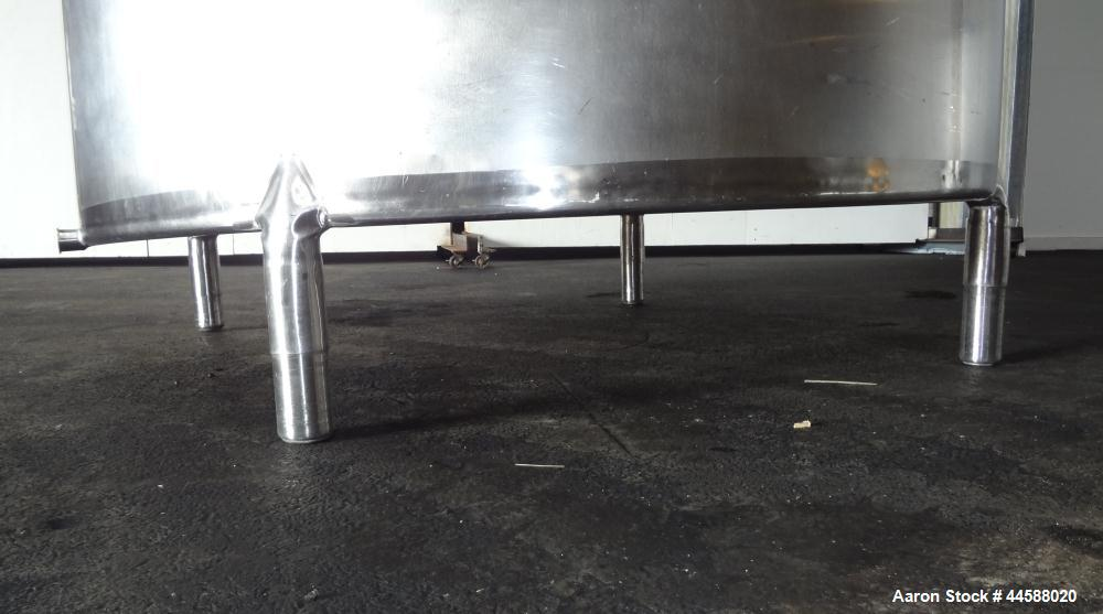 "Used- Mueller Tank, 1000 Gallons, 316 Stainless Steel, Vertical.  Approximately 76"" diameter x 57"" straight side, open top w..."
