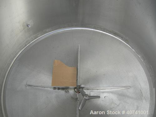 """Used- Tank, 1200 gallon, 316 stainless steel, vertical. 72"""" diameter x 62"""" straight side. Open top with (2) 1/3 covers, dish..."""
