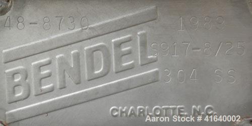 "Used- Bendel Tank, 3,000 Gallon, 304 Stainless Steel, Vertical. 94"" diameter x 108"" straight side, coned top, sloped bottom...."