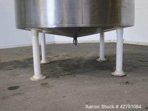 """Previous owned - Tank, 1500 Gallon, 304 Stainless Steel, Vertical. 75-1/2"""" Diameter x 72"""" straight side, dished top, coned b..."""