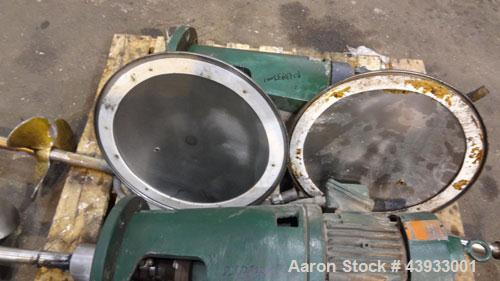 """Used- Tank, 1050 Gallons, 304 Stainless Steel, Vertical.  Approximately 62"""" diameter x 82"""" straight side.  Flat top, sloped ..."""