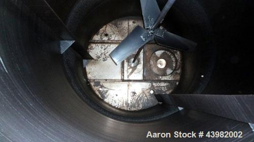 """Used- Tank, 4000 Gallon, 304 Stainless Steel, Vertical.  Approximately 82"""" diameter x 180"""" straight side, flat welded top, d..."""