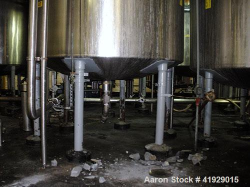 """Used- Norwalk Tank, 2000 Gallon,  Stainless Steel, Vertical. 76"""" diameter x 106"""" straight side, dished top and bottom. Openi..."""