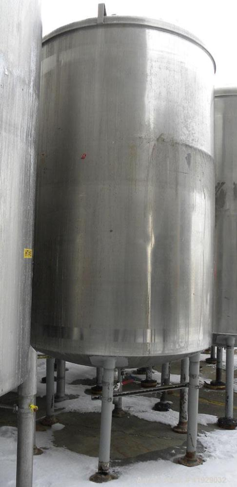 "Used- Norwalk Tank, 2000 Gallon, 316 Stainless Steel, Vertical. 76"" diameter x 106"" straight side, dished top and bottom. Of..."