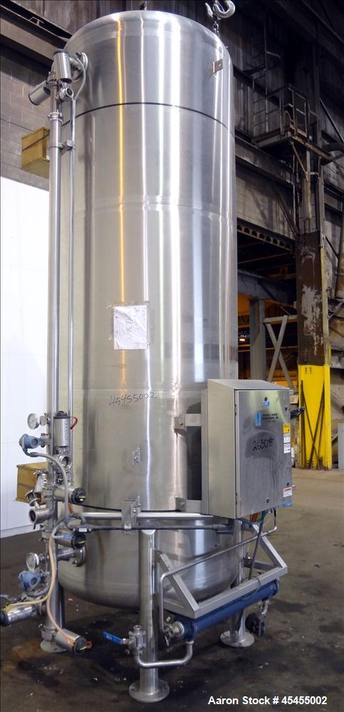 Used- 1500 Gallons Stainless Steel Optimum Filter Pressure Filter Tank