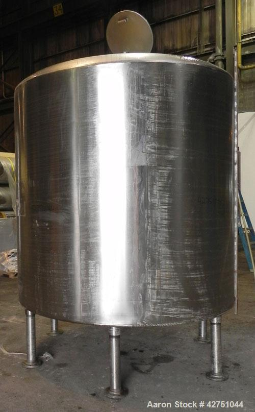 """Used- Perma-San Tank, 2000 Gallon, Model CVC, 304 Stainless Steel Vertical. 84"""" Diameter x 80"""" straight side. Dished top, co..."""