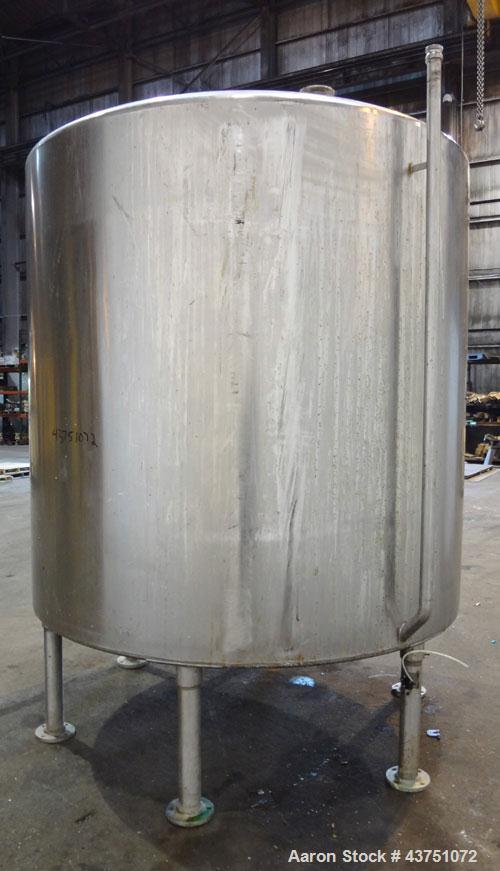 "Used- Perma-San Tank, 2000 Gallon, Model 2000 CVC, 304 Stainless Steel, Vertical. 84"" Diameter x 80"" straight side. Dished t..."
