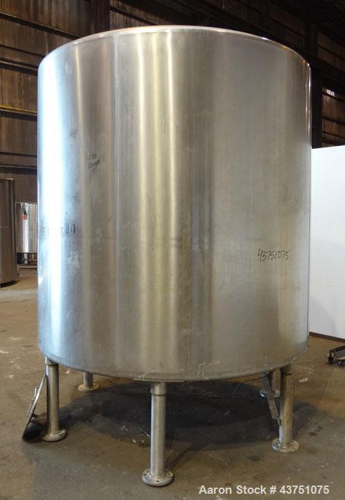 """Used- Perma-San Tank, 2000 Gallon, Model 2000 CVC, 304 Stainless Steel, Vertical. 84"""" Diameter x 80"""" straight side. Dished t..."""