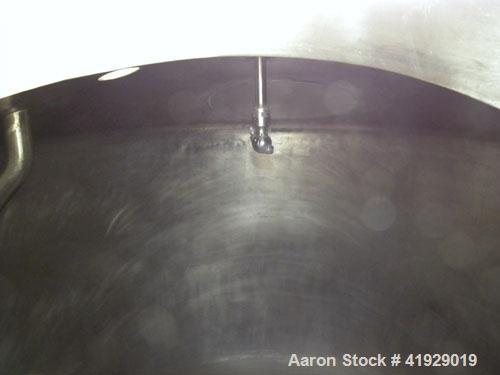 """Used- Perry Products Tank, 2000 Gallon, 316 Stainless Steel, Vertical. 76"""" diameter x 108"""" straight side, dished top and bot..."""