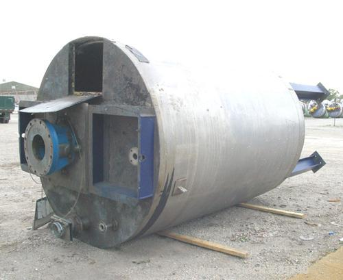 """Used- Pierre Guerin Jacketed Mix Tank, 2800 Gallon, 304 Stainless Steel, Vertical. 86"""" diameter x 110"""" straight side. Flat t..."""