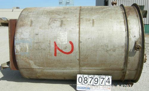 "Used- R.D. Cole Manufacturing Tank, 2300 gallon, 304 stainless steel, vertical. 78"" diameter x 114"" straight side, flat top ..."