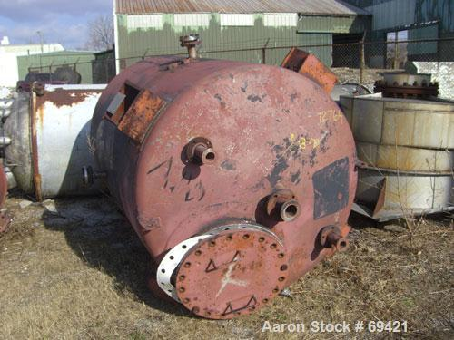 """Used: Superior Welding Co. tank, 1136 gallon, 304 stainless steel,vertical.  5' diameter x 6'9"""" straight side, dish top and ..."""